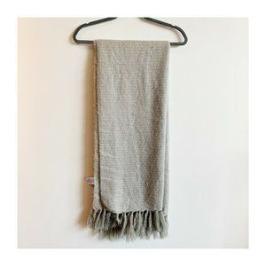West Elm Fuzzy Cozy Throw Blanket Acrylic Grey